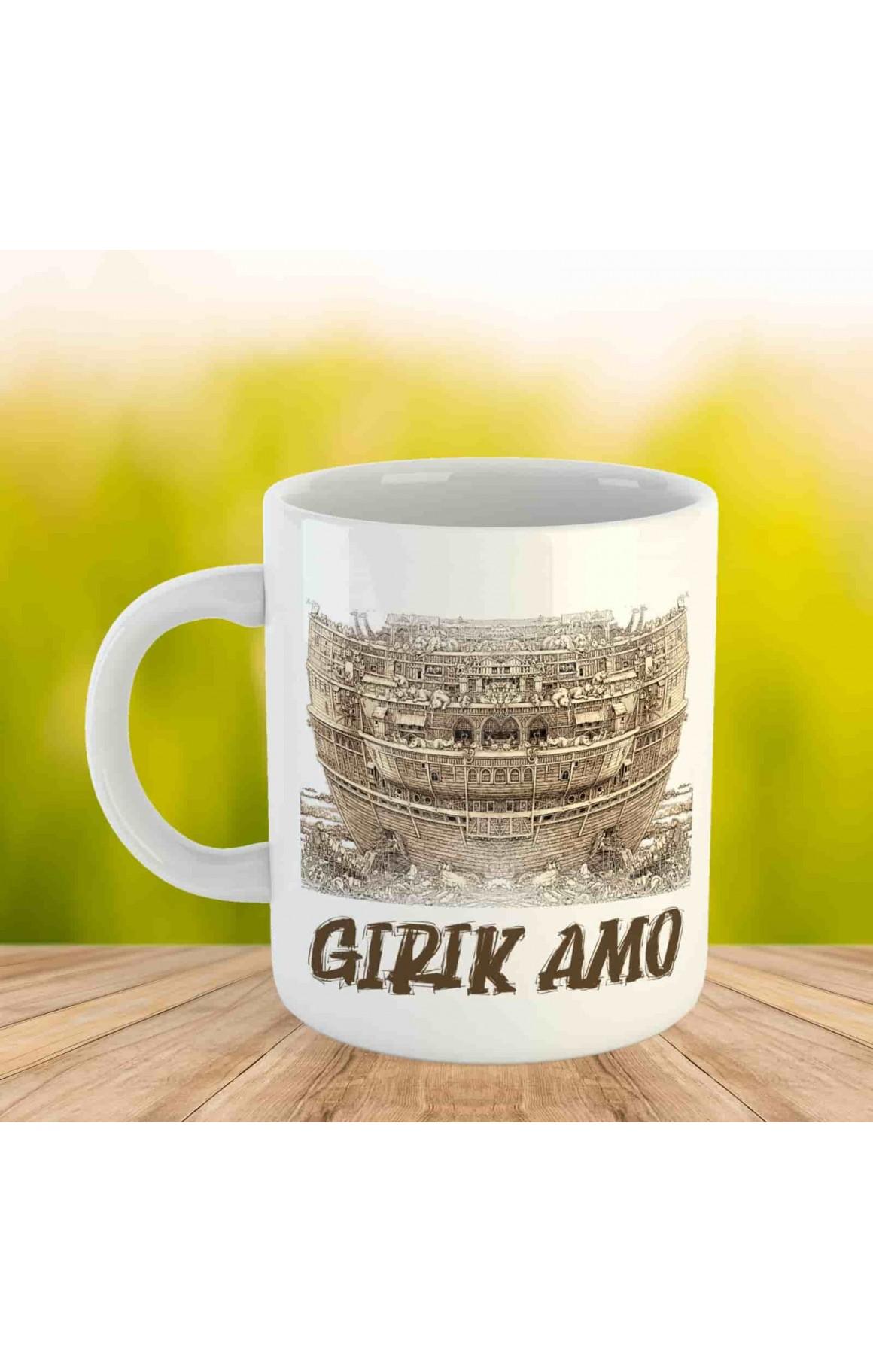 Girik Amo Kupası - Porselen Kupa