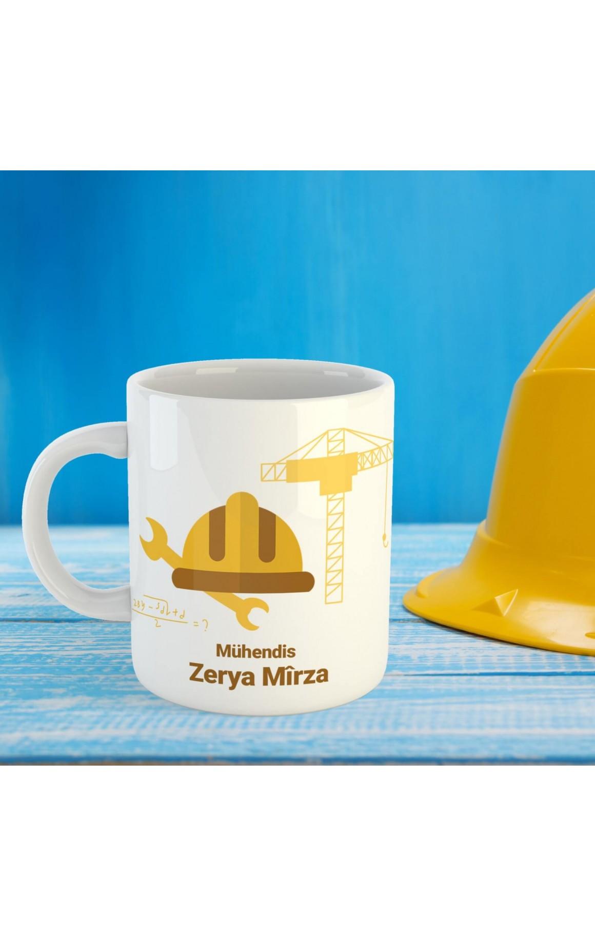 Mühendislere Özel İsimli Porselen Kupa
