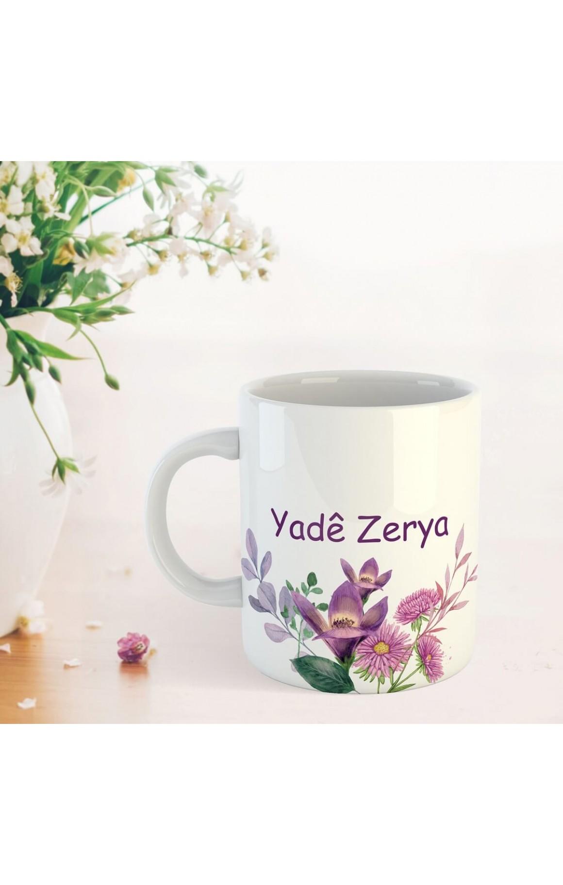 Annelere Özel İsimli Porselen Kupa - Yadê Zerya