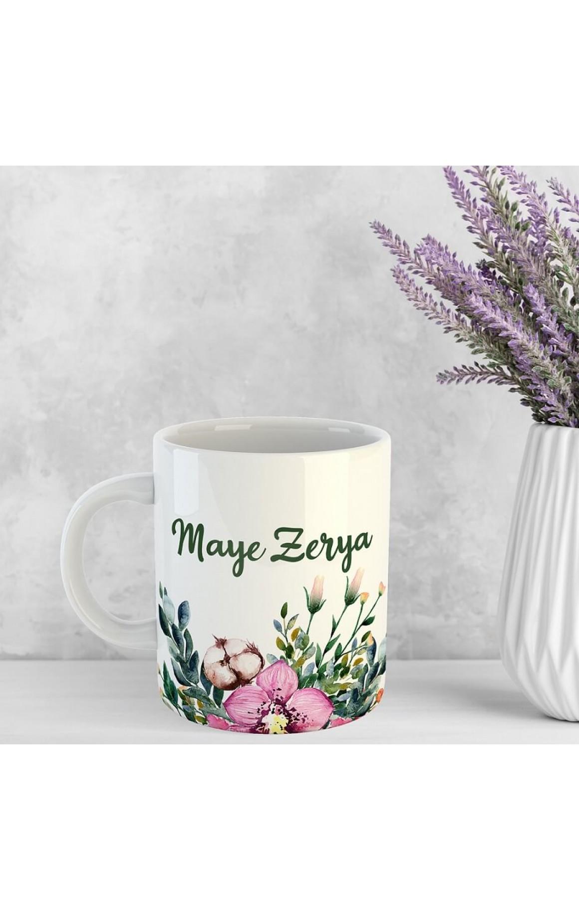 Annelere Özel İsimli Porselen Kupa - Maye Zerya