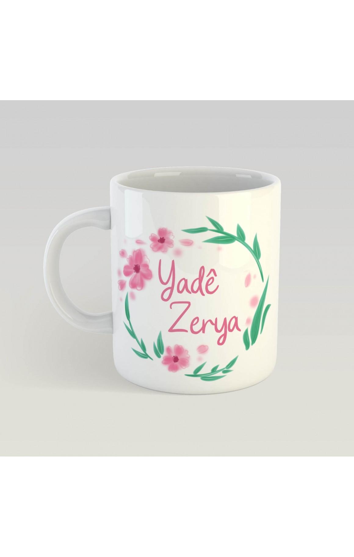 Anneler Gününe Özel İsimli Porselen Kupa - Yadê Zerya 2