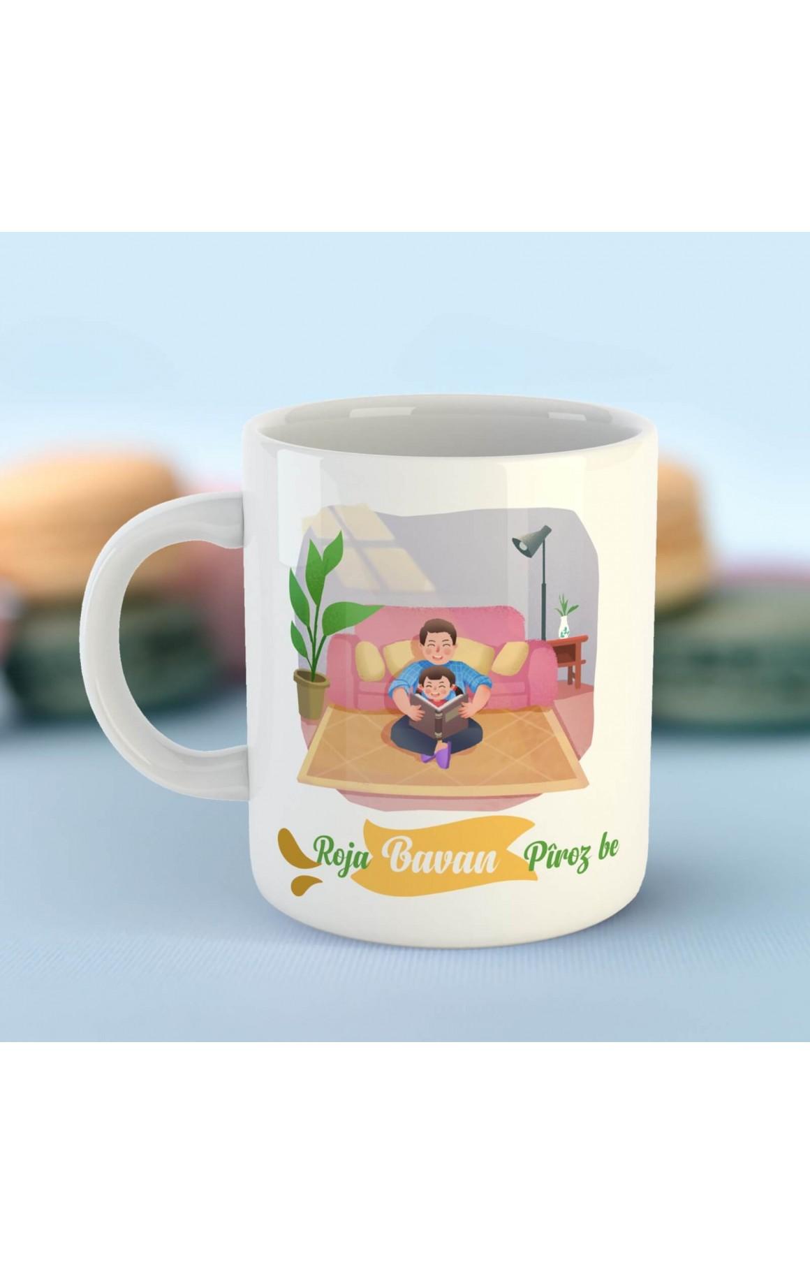 Babalara Özel Porselen Kupa - Roja Bavan