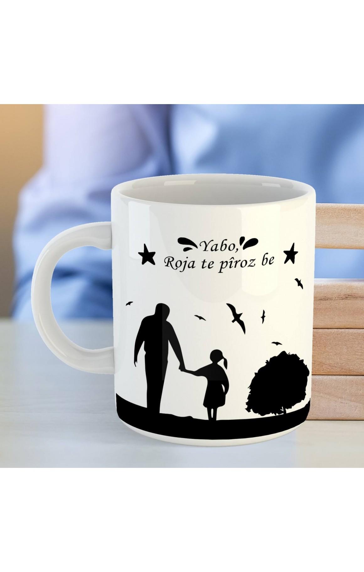 Babalara Özel Porselen Kupa - Yabo Roja Te Pîroz be
