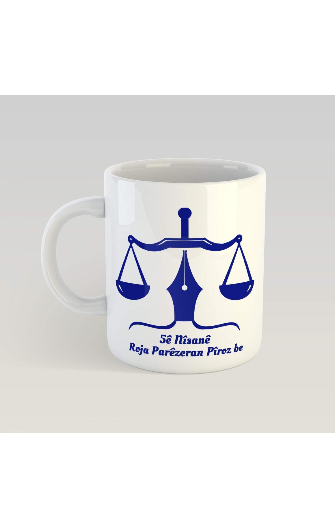 Porselen Kupa - 5ê Nîsanê Roja Parêzeran