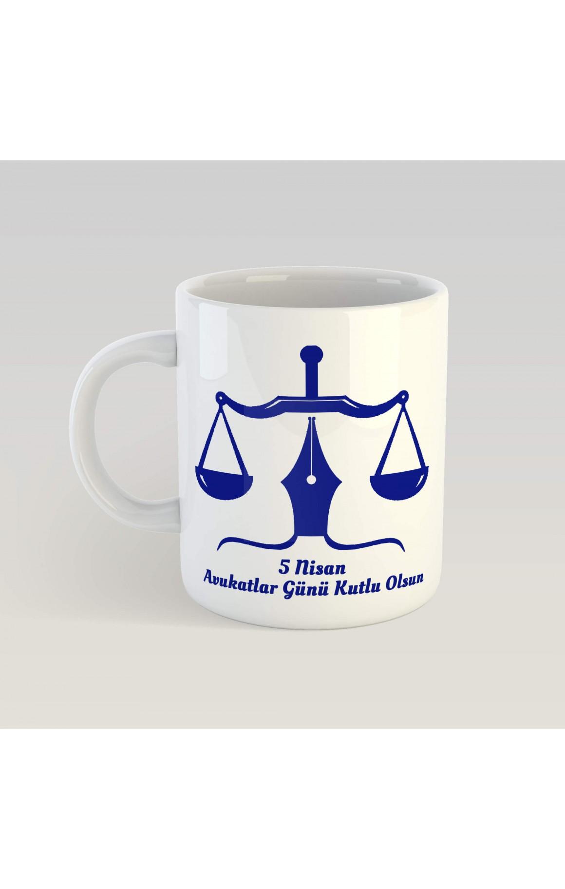 Avukatlar Günü 5 Nisan Porselen Kupa