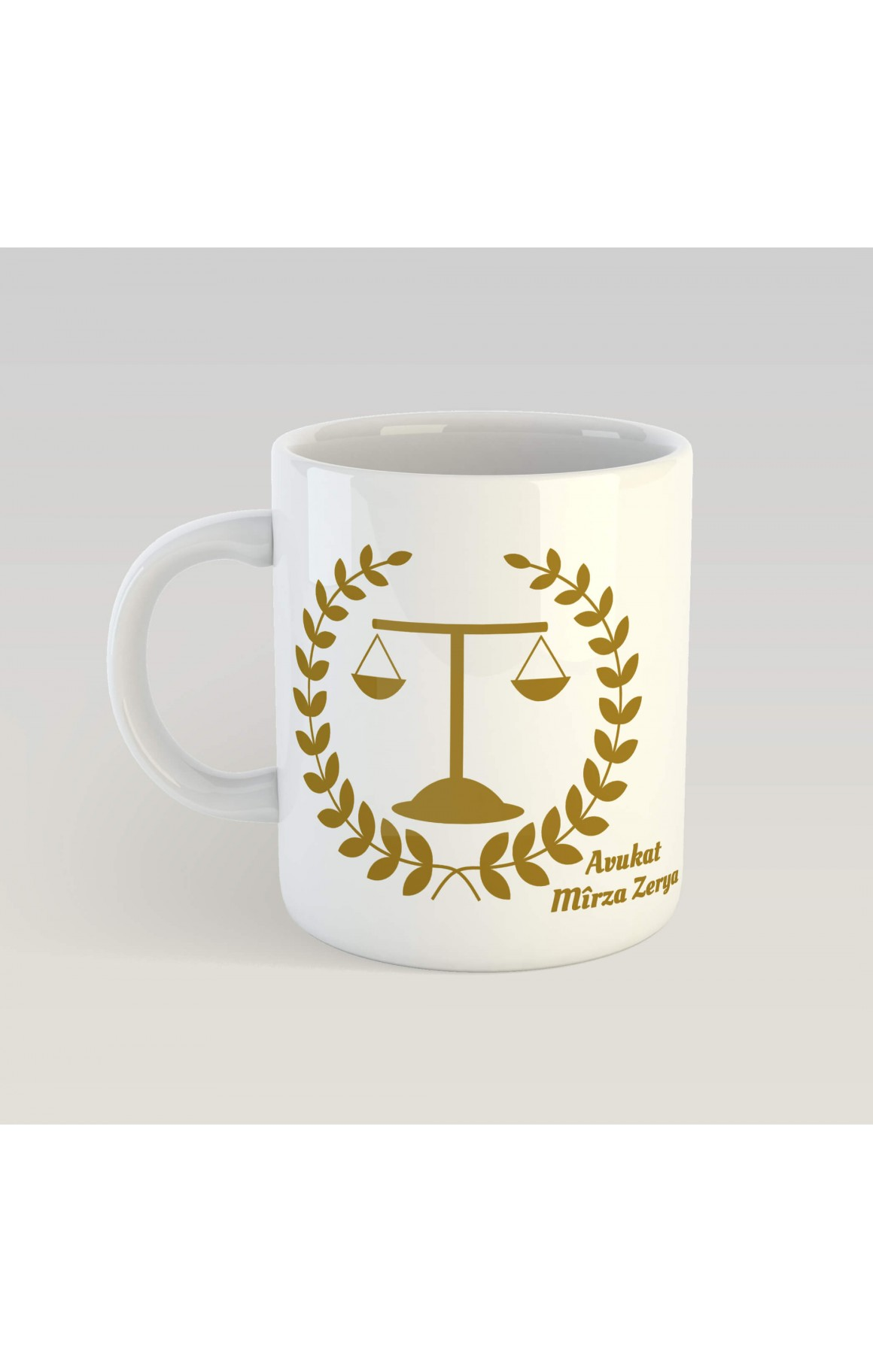 Kişiye Özel İsimli Avukat Porselen Kupa