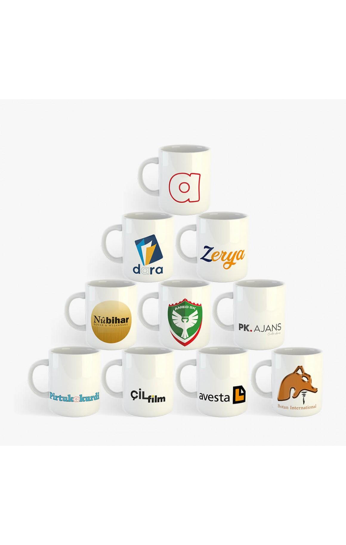 Firmalara Özel Toptan Baskılı Porselen Kupa Bardak (10 adet)