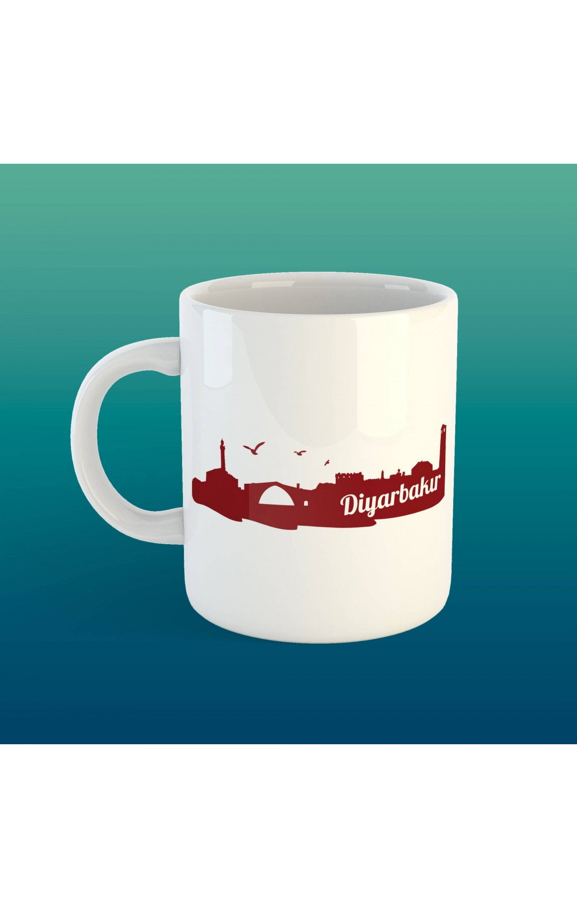 Porselen Kupa - Diyarbakır