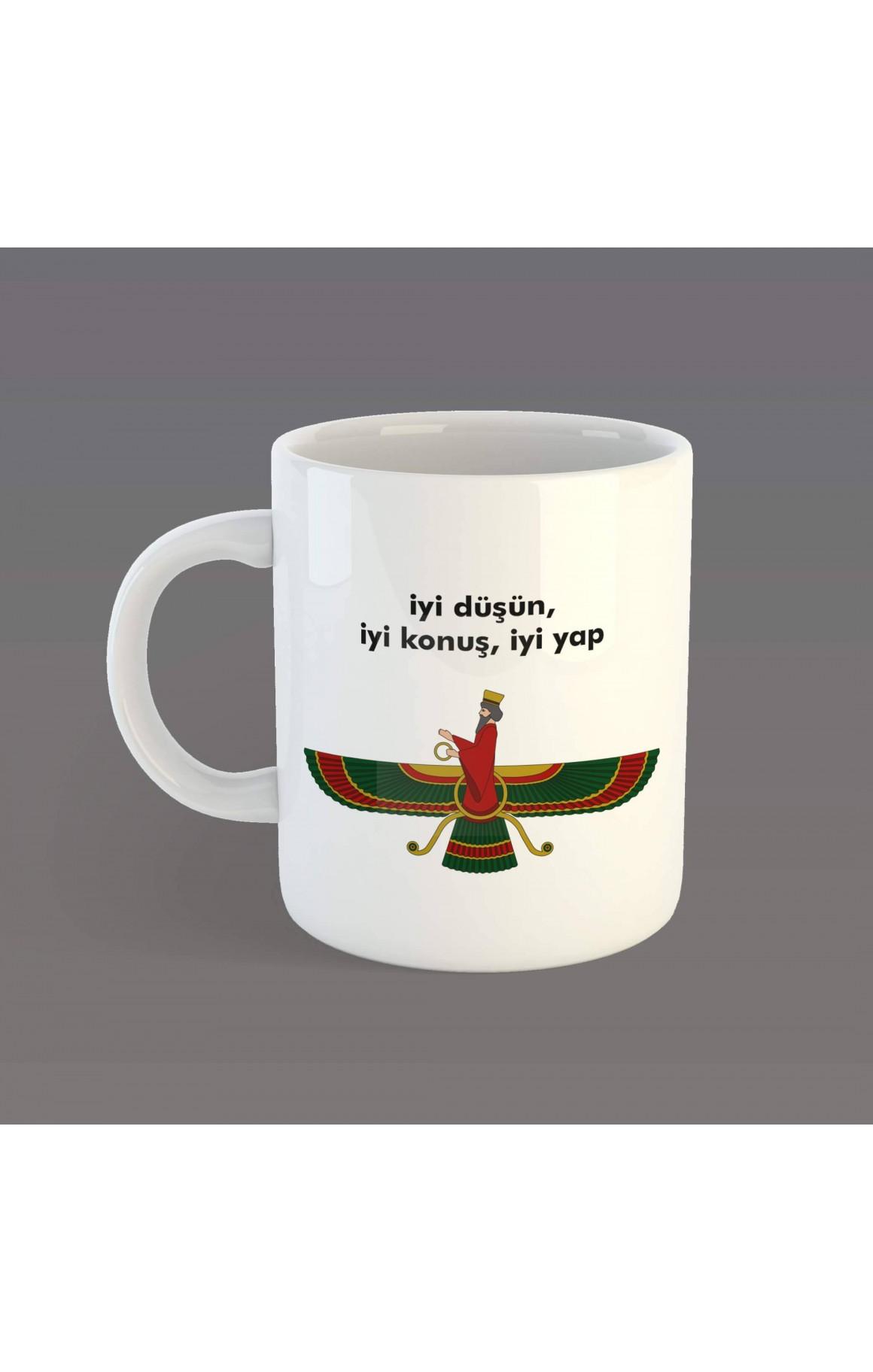 Porselen Kupa - Ahura Mazda - Türkçe