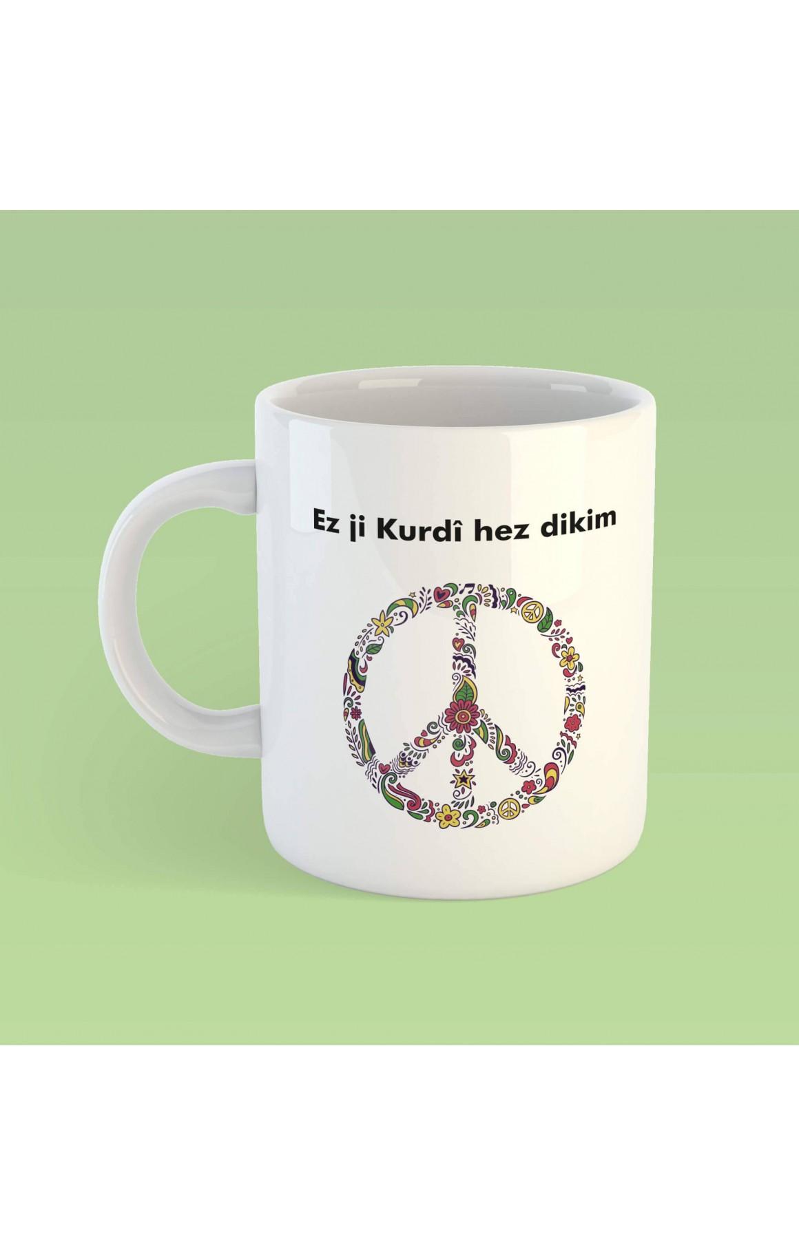 Porselen Kupa - Ez Ji Kurdî Hez Dikim