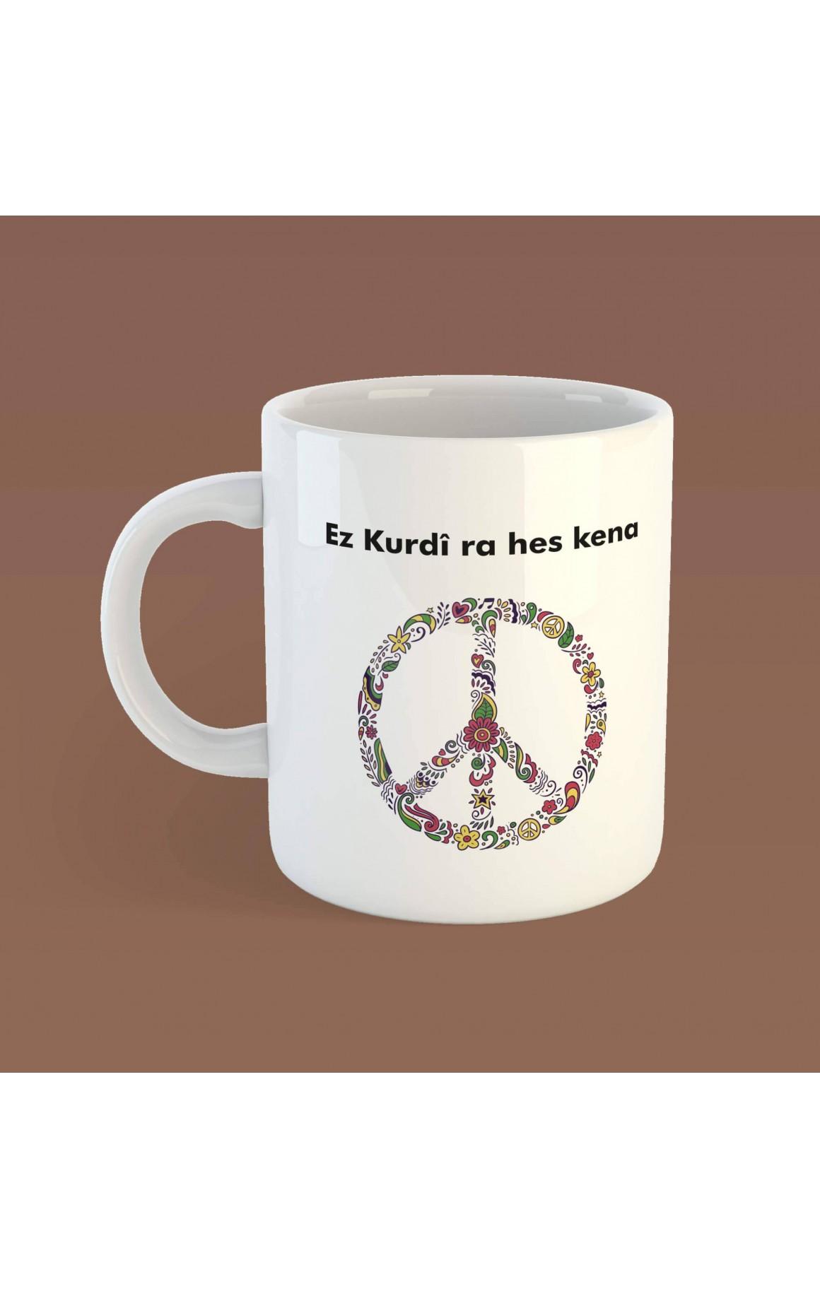 Porselen Kupa - Ez Kurdî ra hes kena