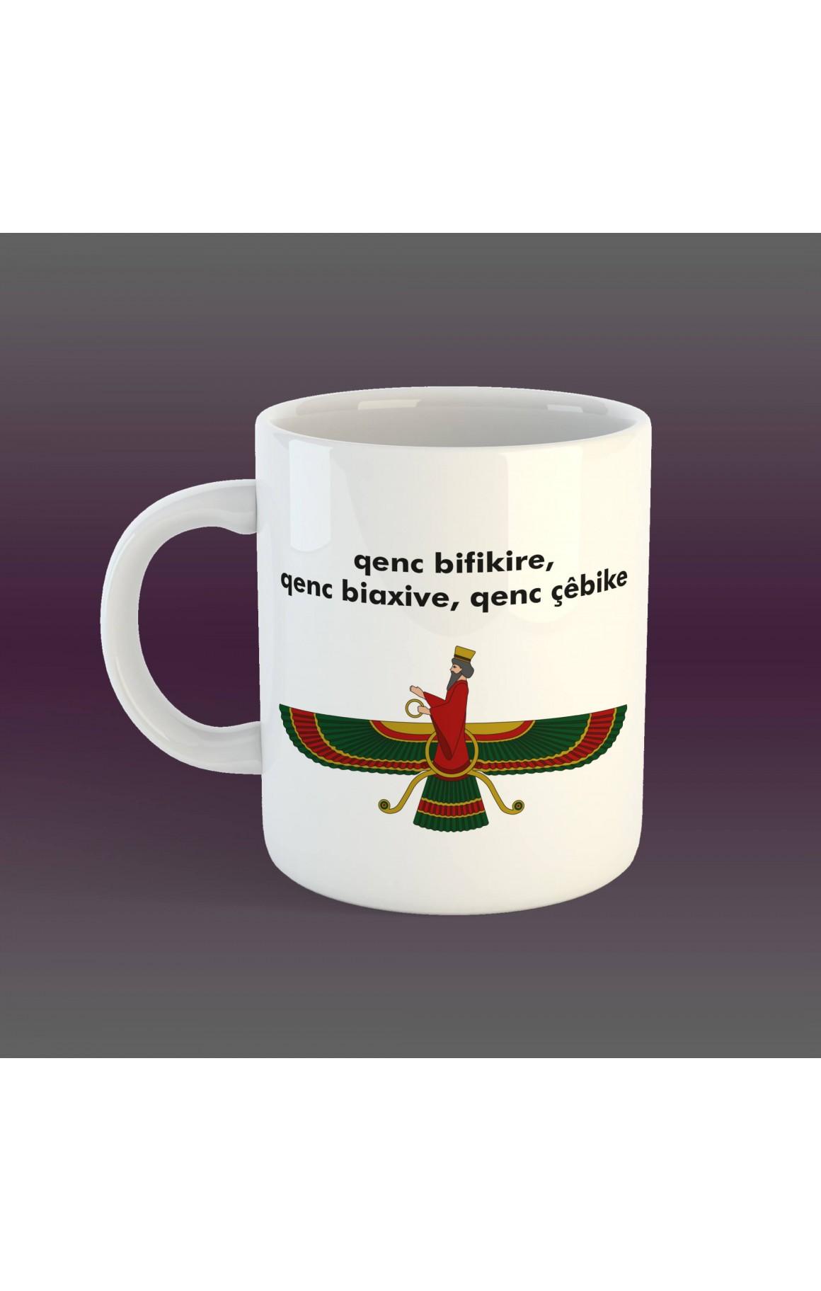 Porselen Kupa - Ahura Mazda - Kürtçe