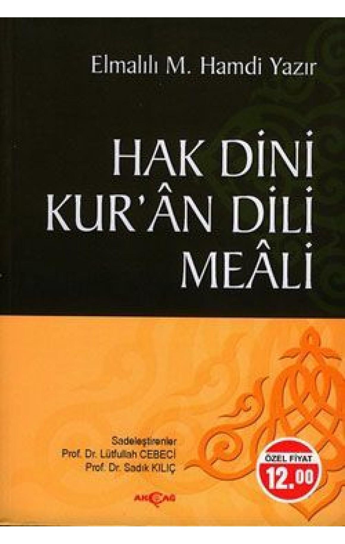 Hak Dini Kuran Dili Meali-Hafız