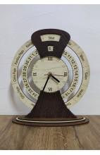 Kürtçe Özel Ahşap Saat - Masaüstü 2