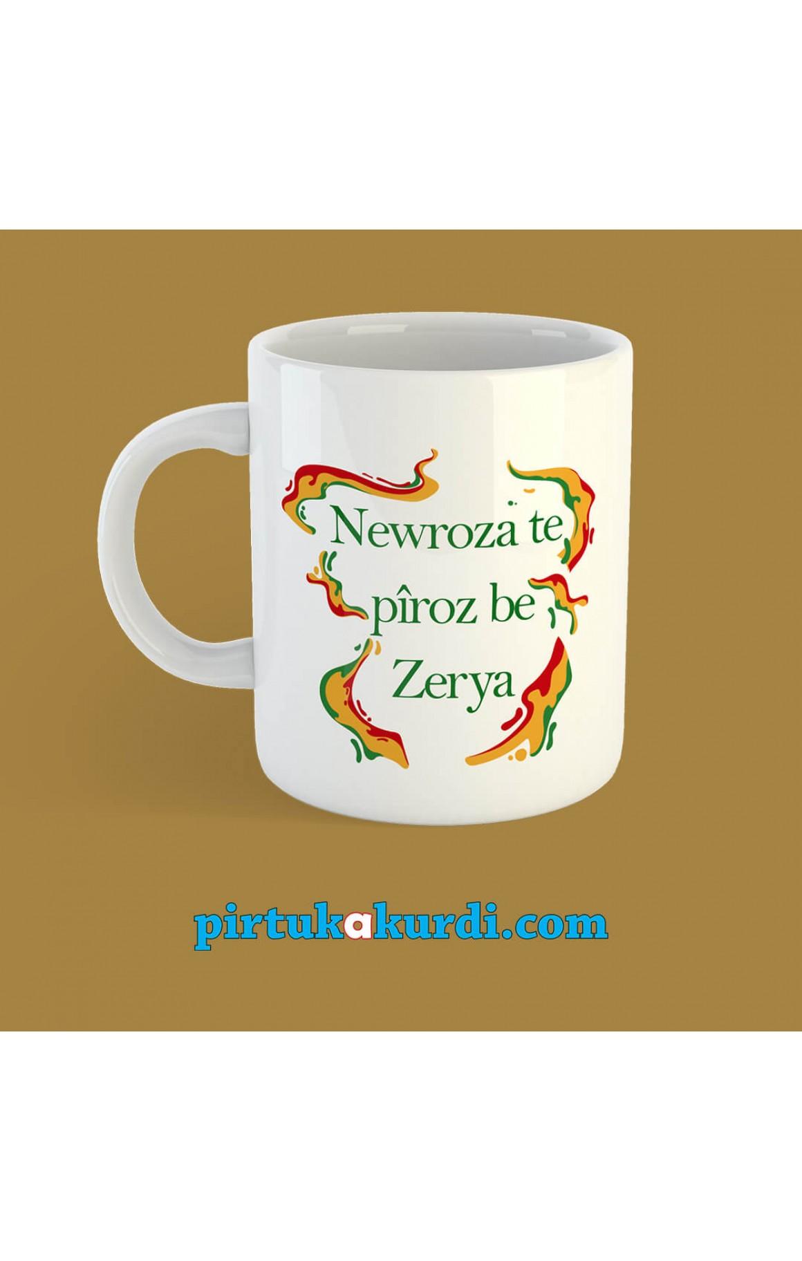 Kişiye Özel İsimli Newroz Porselen Kupa 5