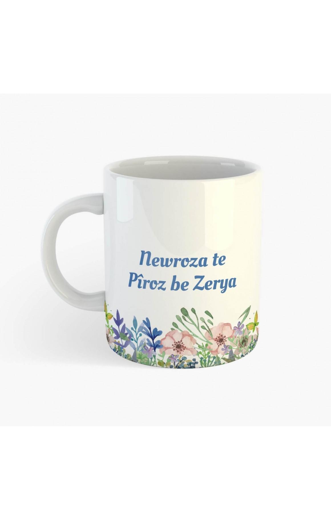 Kişiye Özel İsimli Newroz Porselen Kupa