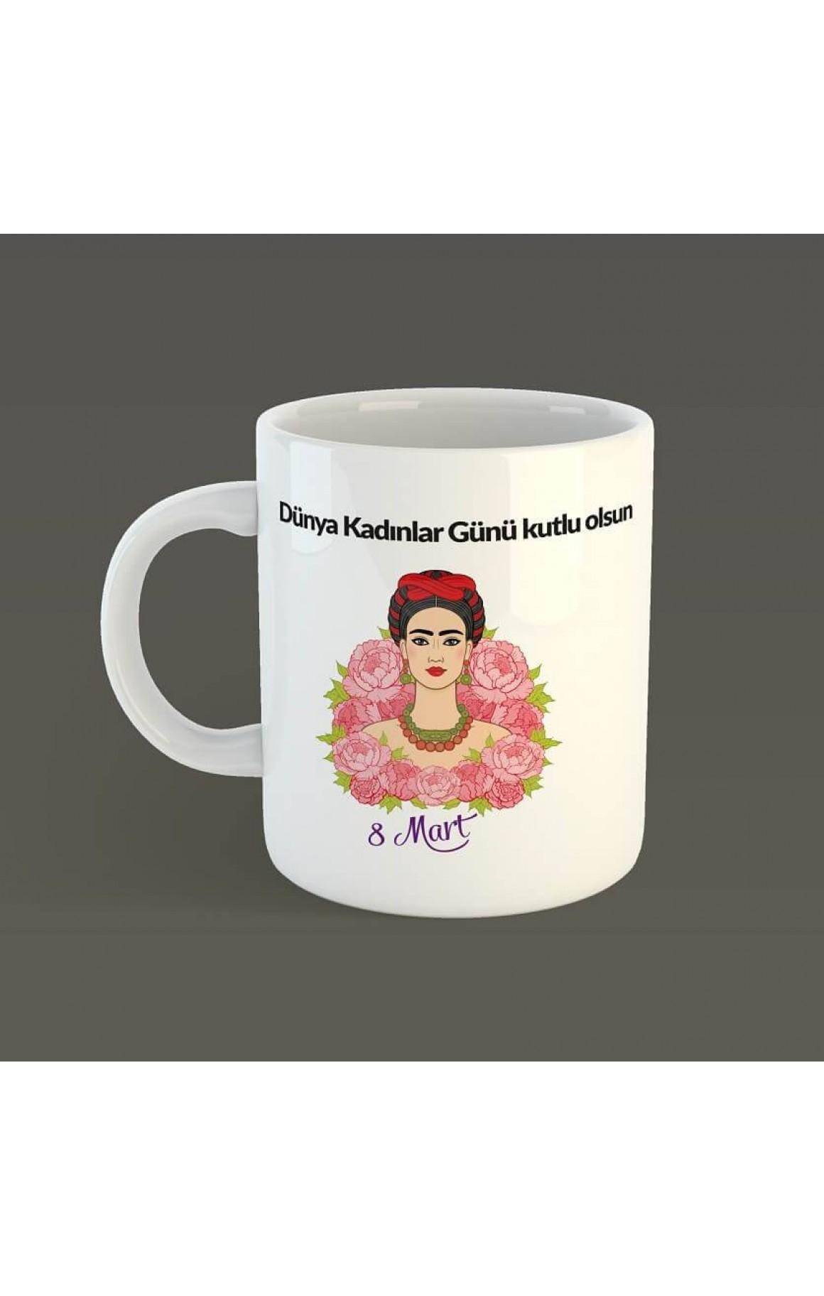 Porselen Kupa - 8 Mart - Frida