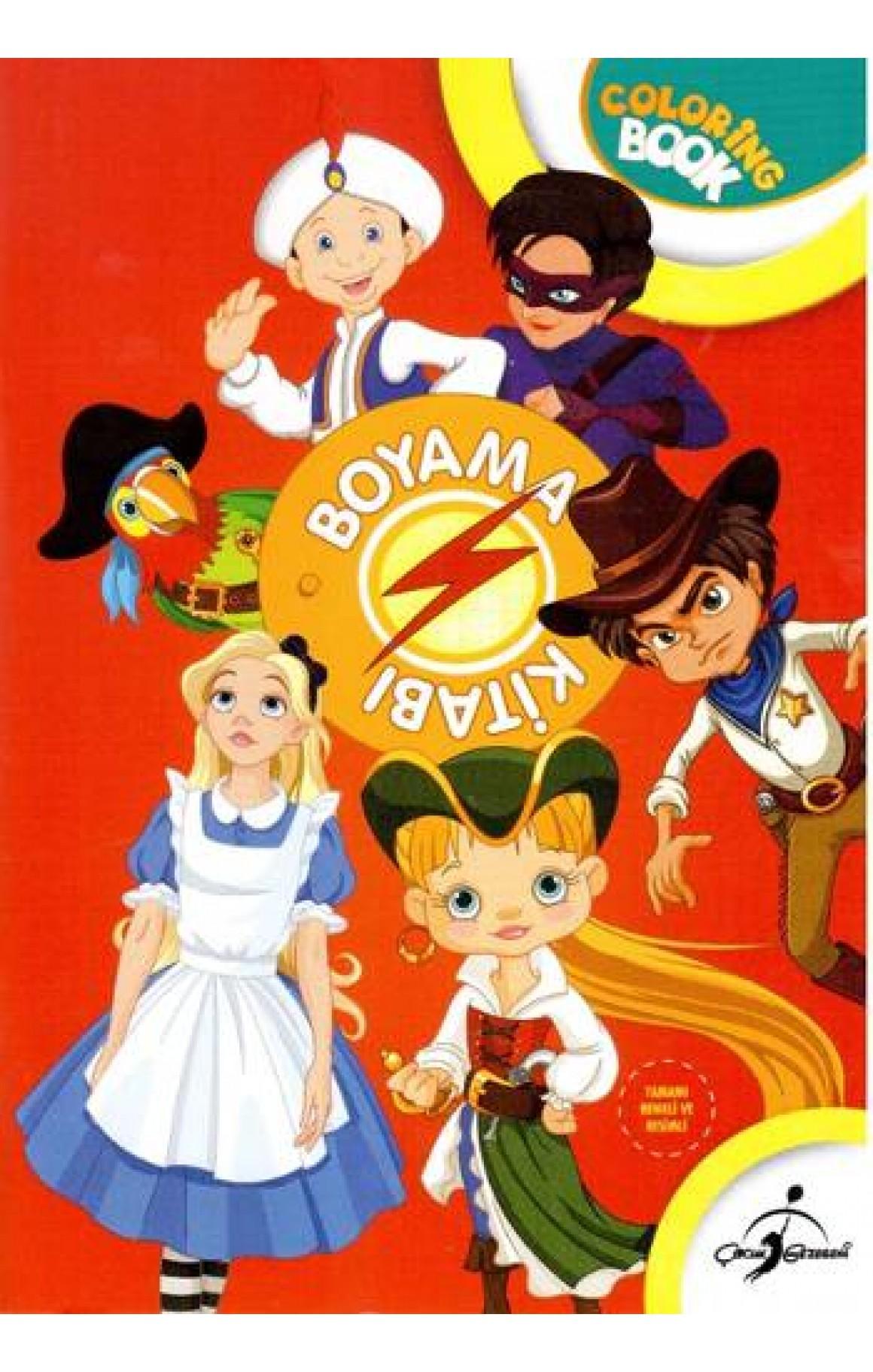 Boyama Kitabı Kırmızı Masal Kahramanları - Aktiviteli Boyama Serisi