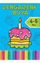 Rengarenk Boya 4-5 Yaş Mavi Kitap