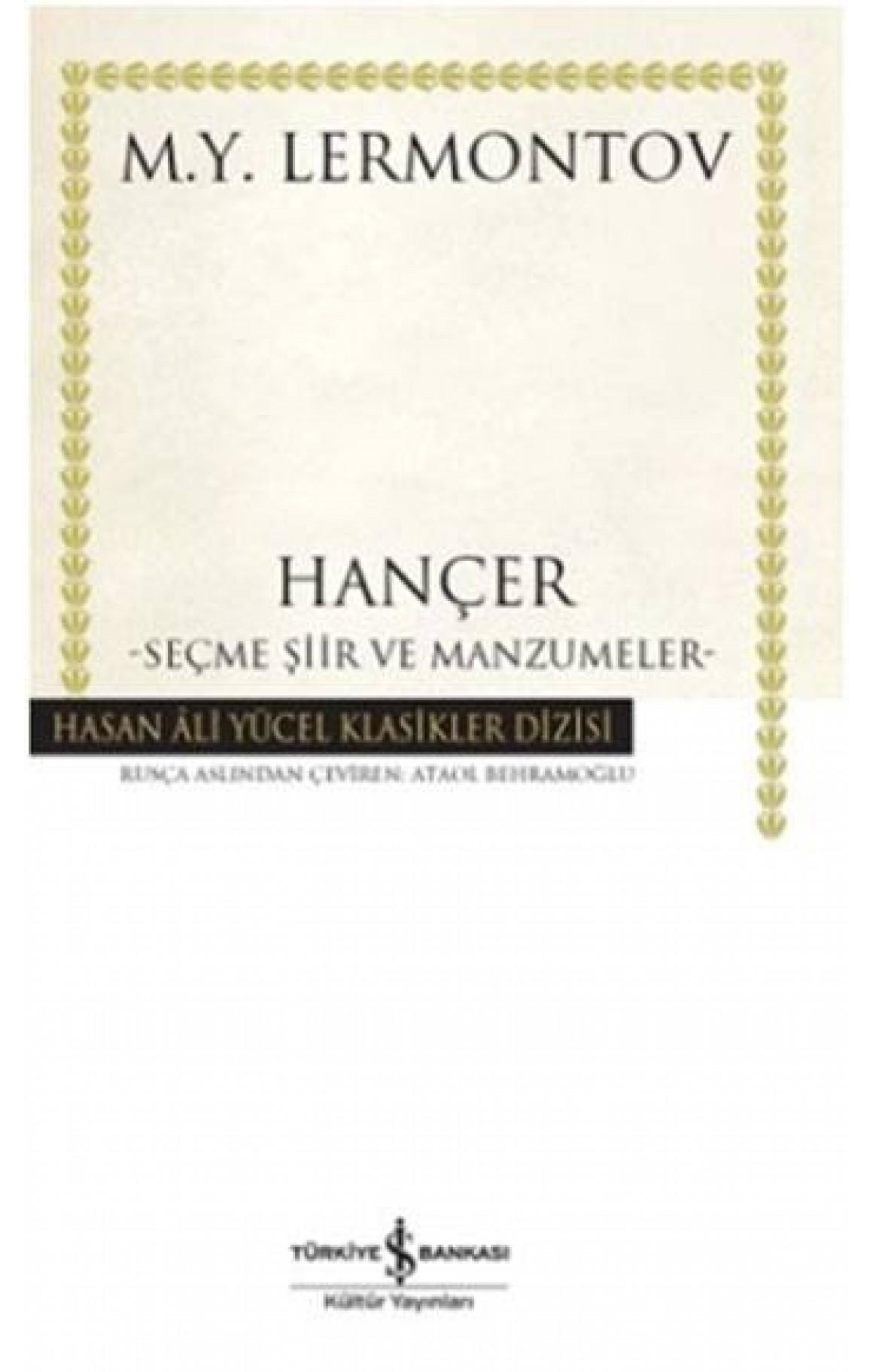Hançer - Ciltli Kitap