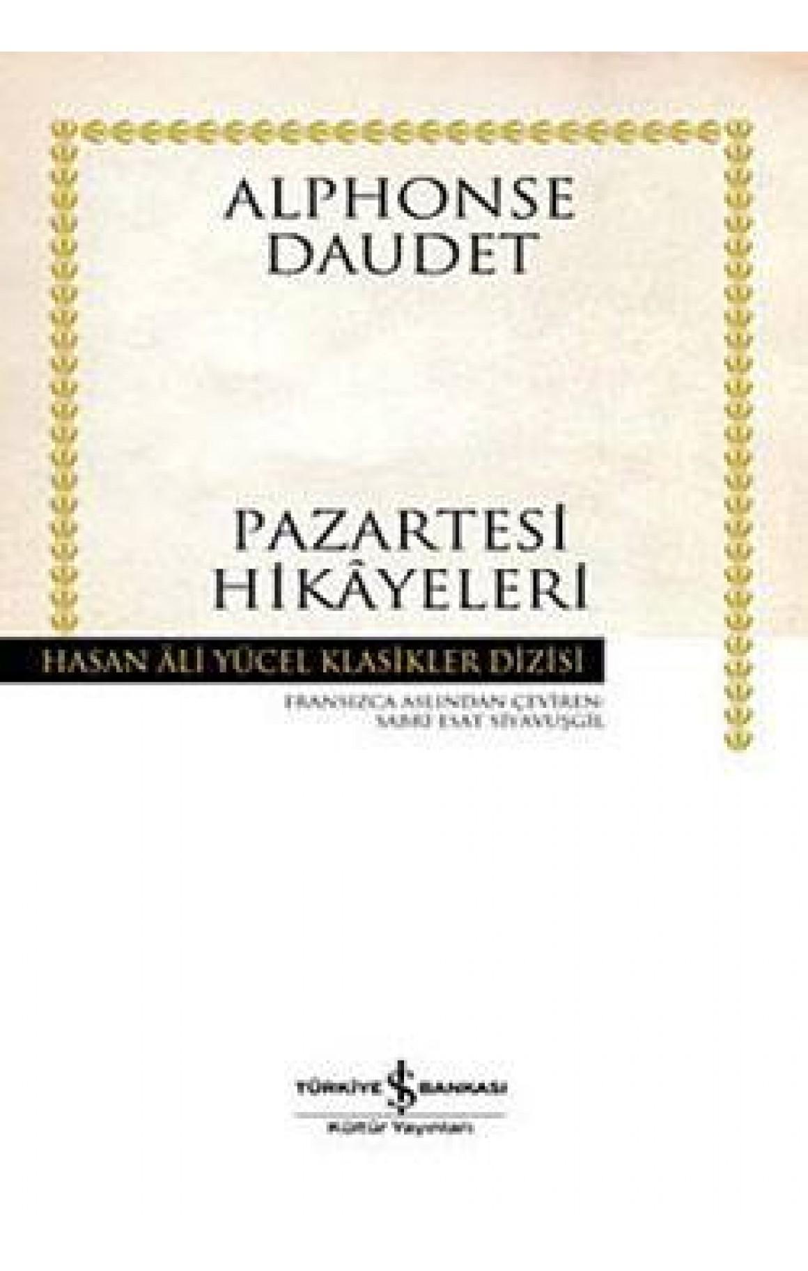 Pazartesi Hikâyeleri - Hasan Ali Yücel Klasikleri (Ciltli)