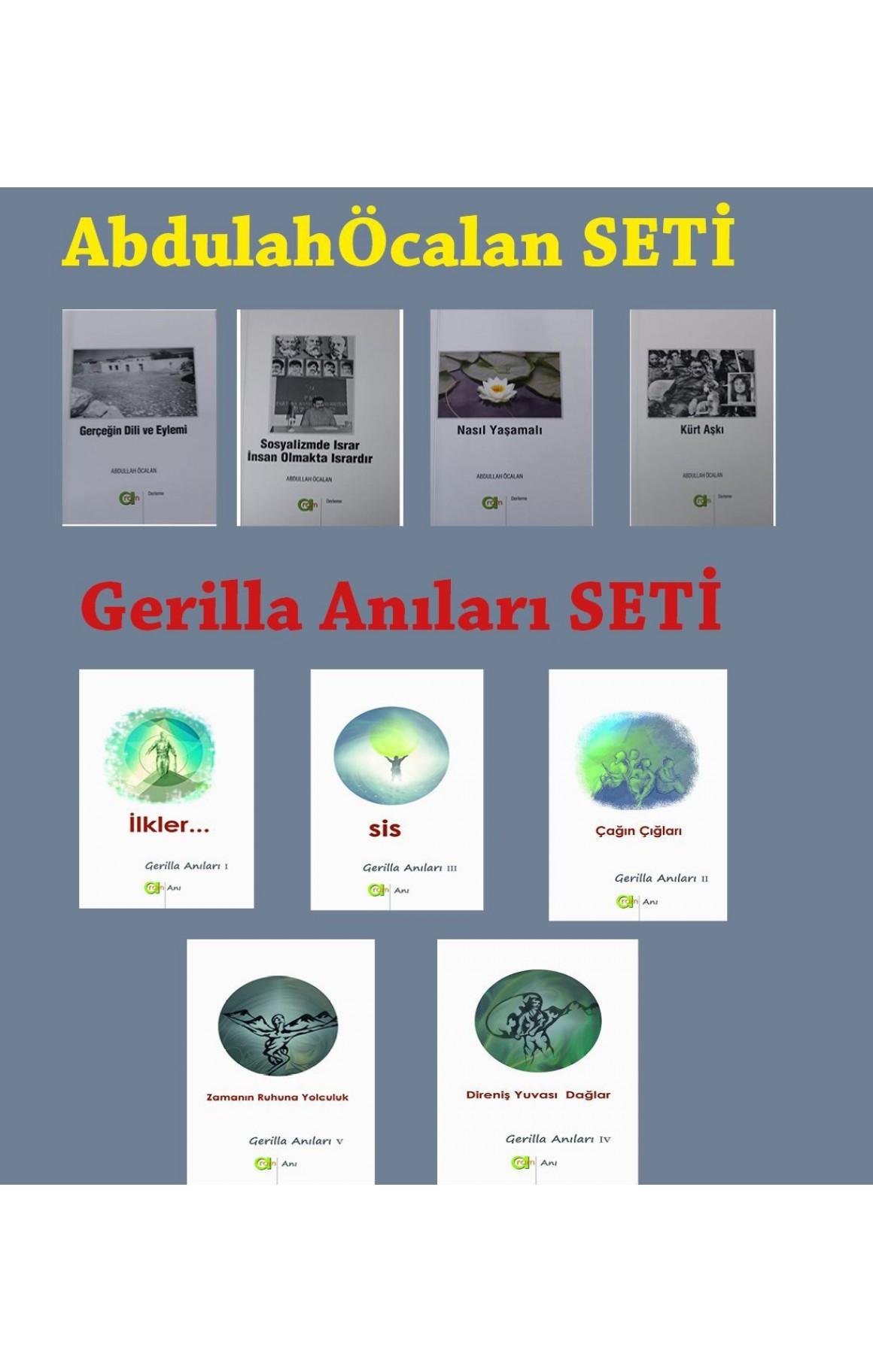 Abdullah Öcalan ve Gerilla Anıları SETİ (2 set)